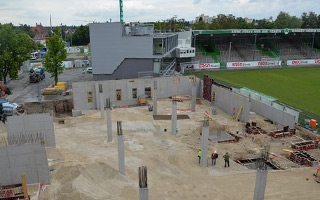New construction: See the new grandstand in Fürth grow