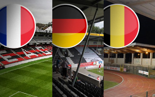 New stadiums: France, Germany and Belgium – one each