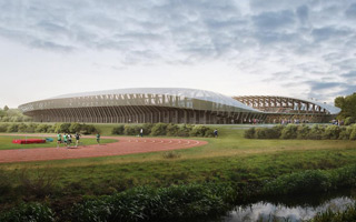 New stadium: Ecologic like cow manure