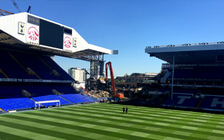 London: White Hart Lane disappearing while Wembley awaits