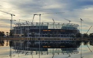 Australia: Perth Stadium half way there