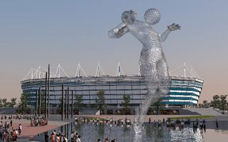 "Kaliningrad: 20-meter ""Aquaman"" sculpture decorating World Cup stadium?"