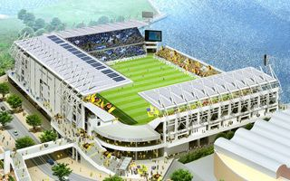 New design and construction: First marine stadium for J2 League