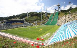 New stadium: For footballers and… ski jumpers!