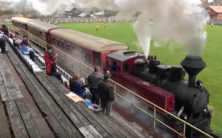 New stadium: Yes, trains run between players and fans