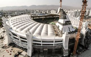 Turkmenistan: Horse-headed stadium almost ready