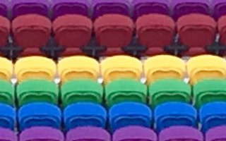 Orlando: Rainbow seats as tribute for Pulse victims