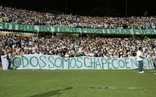 Colombia and Brazil: They filled stadiums for Chapecoense