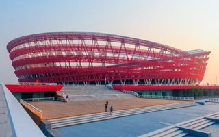 New stadium: See the Red Beach of Panjin
