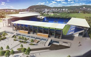 Oslo: Vålerenga show their new supporter plaza