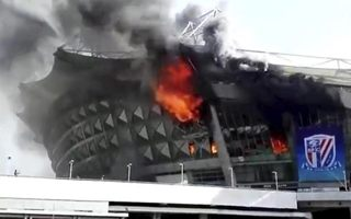 Shanghai: Serious fire damages Shenhua stadium