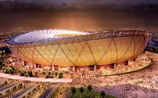 Qatar 2022: World Cup final venue under construction
