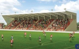 England: Exter's new main stand construction in June