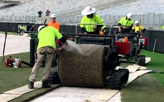 Perth: Hybrid turf being laid