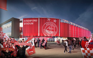 Aberdeen: Celtic and Hearts support Aberdeen's stadium scheme