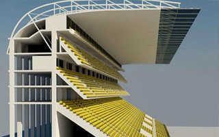 Dresden: Building a model of the steepest modern grandstand