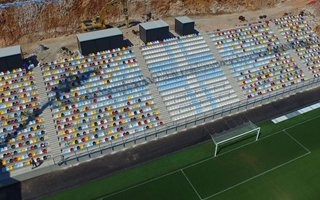 Croatia: Rijeka built a stand in 72 days to make it in time!