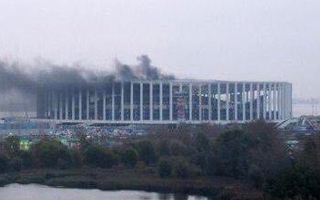 Russia 2018: Fire erupts at Nizhny Novgorod stadium