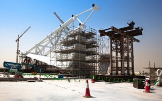 Qatar 2022: First prefabs of Zaha Hadid's dome are in place