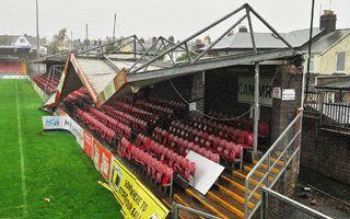 Ireland: Hurricane tears roof at Turners Cross
