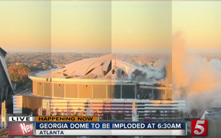 Atlanta: Georgia Dome gone in 12 seconds