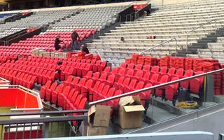 Amsterdam: Last portion of red seats at ArenA