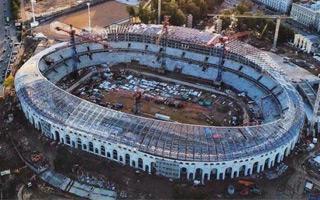 Belarus: Minsk national stadium significantly behind schedule