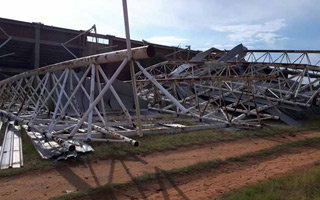 South Africa: Entire roof blown off by wind