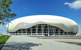 New stadium: Ion Oblemenco is now an egg