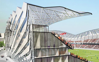 New construction: The dancing stadium of Batumi breaks ground