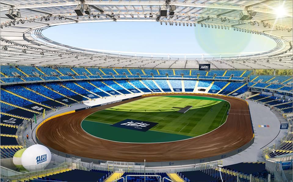Stadion Śląski z torem żużlowym