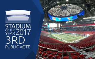 Stadium of the Year 2017: Public Vote 3rd Place – Mercedes-Benz Stadium