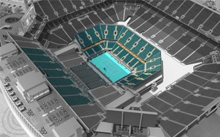 Miami: Hard Rock Stadium's tennis conversion begins