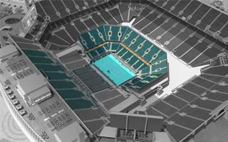 Miami: Hard Rock Stadium's tennis conversion begins