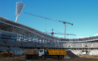 Belarus: Stadion Dinama structurally complete