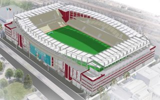 New design: Easy, it's only a training stadium