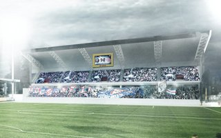 Germany: First stand of a new stadium in Kiel