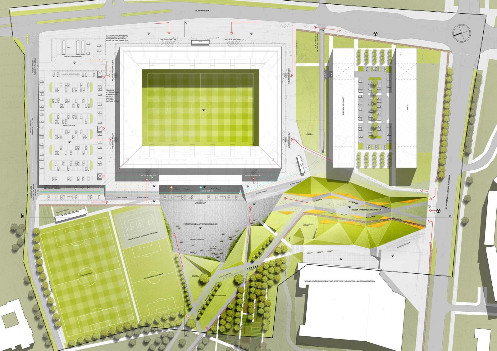 Stadion w Olsztynie