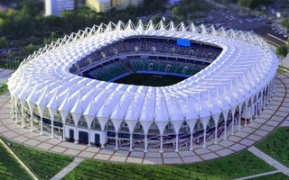 Uzbekistan: Beautiful stadium but an empty one, too