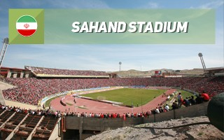 New stadium: By the volcano in Tabriz