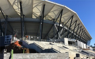 Australia: Western Sydney Stadium suffers from flood