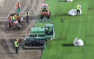 Bratislava: Turf laid at new Tehelne pole
