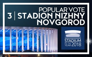 Stadium of the Year: Popular Vote – 3rd | Stadion Nizhny Novgorod