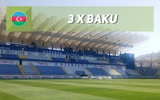 New stadiums: Baku, Baku, Baku