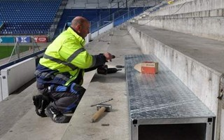 Germany: Seats removed, stablisation of Magdeburg's north stand ongoing
