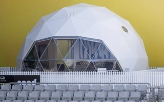New Zealand: Glamping at a stadium, anyone?