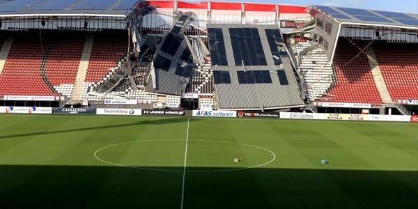 Alkmaar: Roof collapse shakes AZ stadium