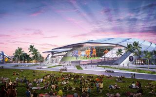 Miami: New visualization of Beckham's stadium