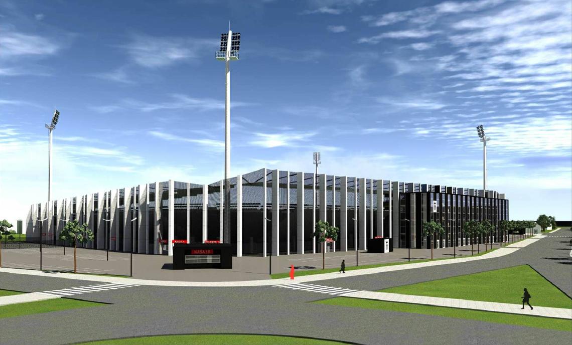 Projekt stadionu Sandecji w Nowym Sączu