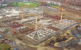 Croatia: Osijek stadium rising from the ground